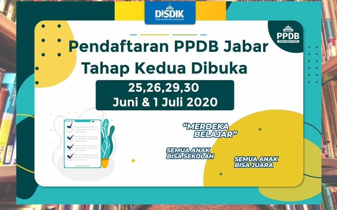PPDB Jabar 2020 Tahap 2 Dibuka 25 Juni Hingga 1 Juli 2020